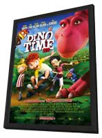 Dino Time 3D - 11 x 17 Movie Poster - Style A - in Deluxe Wood Frame