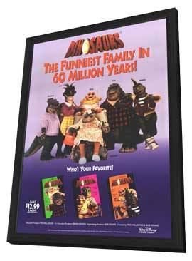 Dinosaurs - 11 x 17 Movie Poster - Style A - in Deluxe Wood Frame