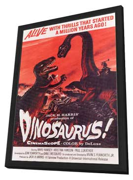 Dinosaurus! - 11 x 17 Movie Poster - Style A - in Deluxe Wood Frame
