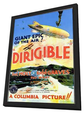 Dirigible - 11 x 17 Movie Poster - Style A - in Deluxe Wood Frame