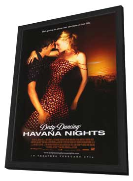 Dirty Dancing: Havana Nights - 11 x 17 Movie Poster - Style B - in Deluxe Wood Frame