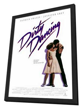 Dirty Dancing - 27 x 40 Movie Poster - Style A - in Deluxe Wood Frame