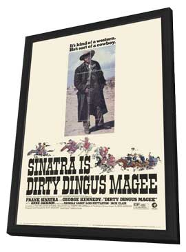 Dirty Dingus Magee - 11 x 17 Movie Poster - Style A - in Deluxe Wood Frame