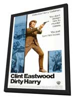 Dirty Harry - 27 x 40 Movie Poster - Style I - in Deluxe Wood Frame