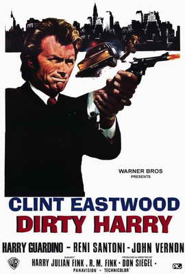Dirty Harry - 27 x 40 Movie Poster - Italian Style A