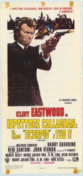 Dirty Harry - 11 x 17 Movie Poster - Italian Style A