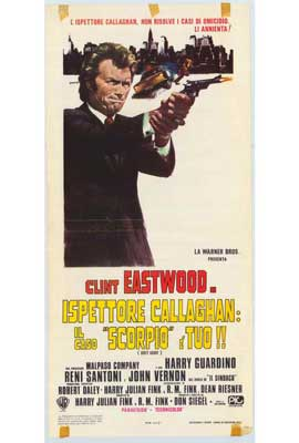 Dirty Harry - 27 x 40 Movie Poster - Italian Style B