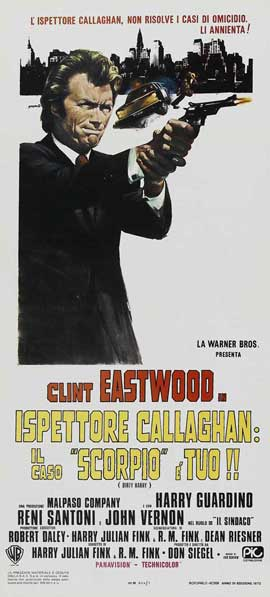 Dirty Harry - 13 x 28 Movie Poster - Italian Style A