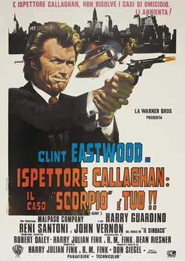 Dirty Harry - 11 x 17 Movie Poster - Italian Style K
