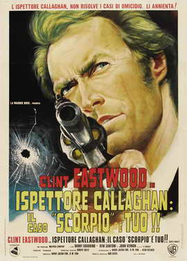 Dirty Harry - 27 x 40 Movie Poster - Italian Style E