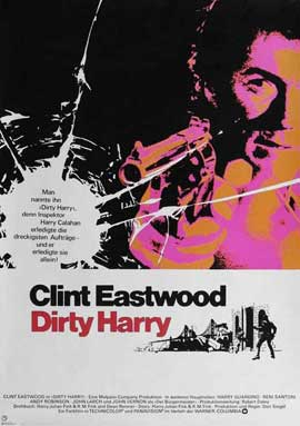 Dirty Harry - 11 x 17 Movie Poster - German Style A
