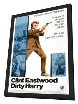 Dirty Harry - 11 x 17 Movie Poster - Style I - in Deluxe Wood Frame