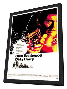 Dirty Harry - 27 x 40 Movie Poster - Style A - in Deluxe Wood Frame