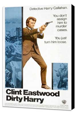 Dirty Harry - 11 x 17 Movie Poster - Style I - Museum Wrapped Canvas