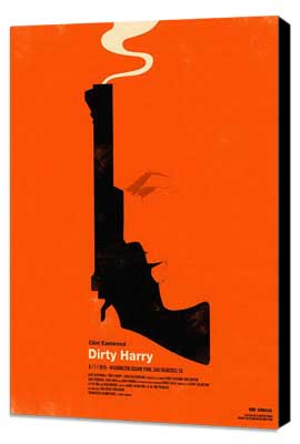Dirty Harry - 11 x 17 Movie Poster - Style L - Museum Wrapped Canvas
