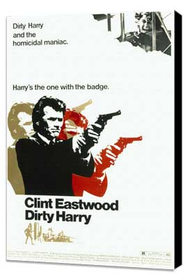 Dirty Harry - 27 x 40 Movie Poster - Style B - Museum Wrapped Canvas