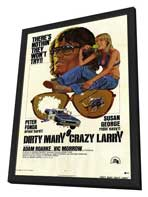 Dirty Mary Crazy Larry - 27 x 40 Movie Poster - Style A - in Deluxe Wood Frame