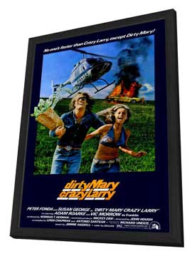Dirty Mary Crazy Larry - 27 x 40 Movie Poster - Style B - in Deluxe Wood Frame