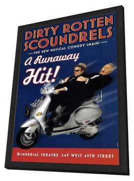 Dirty Rotten Scoundrels (Broadway) - 11 x 17 Poster - Style A - in Deluxe Wood Frame