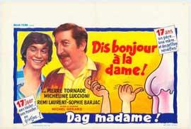 Dis bonjour � la dame - 27 x 40 Movie Poster - Belgian Style A