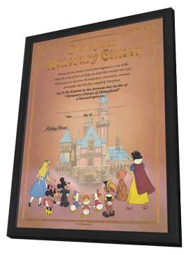 Disneyland - 11 x 17 Movie Poster - Style B - in Deluxe Wood Frame