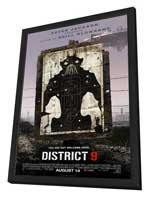 District 9 - 11 x 17 Movie Poster - Style C - in Deluxe Wood Frame