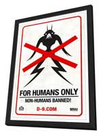 District 9 - 11 x 17 Movie Poster - Style D - in Deluxe Wood Frame