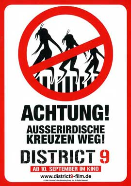 District 9 - 11 x 17 Movie Poster - German Style B