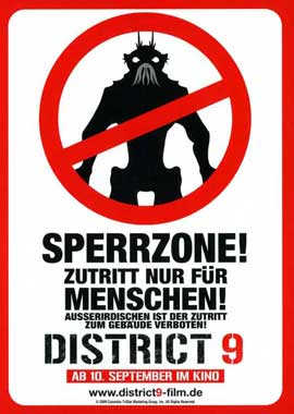 District 9 - 11 x 17 Movie Poster - German Style E