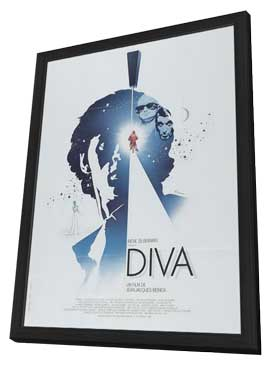 Diva - 27 x 40 Movie Poster - German Style A - in Deluxe Wood Frame