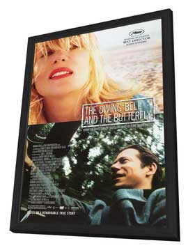 Diving Bell and the Butterfly - 11 x 17 Movie Poster - Style A - in Deluxe Wood Frame