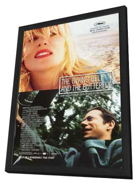 Diving Bell and the Butterfly - 27 x 40 Movie Poster - Style A - in Deluxe Wood Frame
