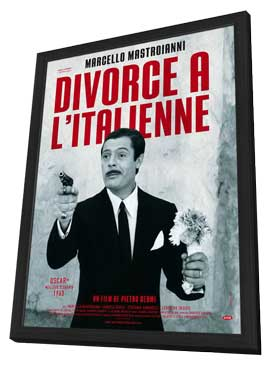 Divorce - Italian Style - 11 x 17 Movie Poster - French Style A - in Deluxe Wood Frame