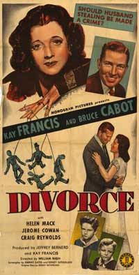 Divorce - 41 x 81 3 Sheet Movie Poster - Style A