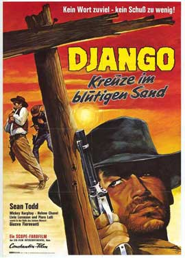 Django, Castle of Bloody Lust - 27 x 40 Movie Poster - German Style A