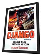Django - 27 x 40 Movie Poster - Italian Style A - in Deluxe Wood Frame