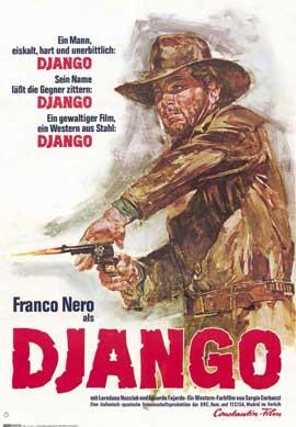 Django - 11 x 17 Movie Poster - German Style A