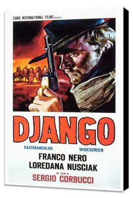 Django - 11 x 17 Movie Poster - Italian Style A - Museum Wrapped Canvas