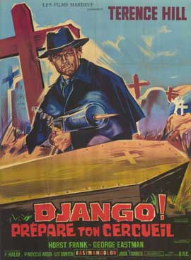 Django Sees Red - 11 x 17 Movie Poster - French Style A