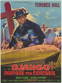 Django Sees Red - 47 x 62 Movie Poster - French Style A