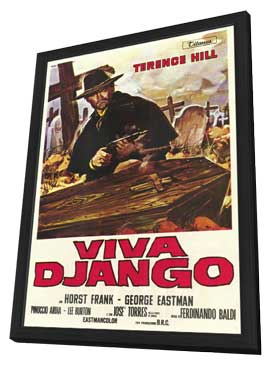 Django Sees Red - 27 x 40 Movie Poster - Italian Style B - in Deluxe Wood Frame