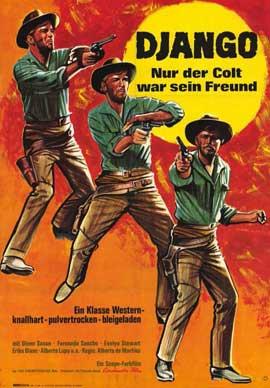 Django Shoots First - 11 x 17 Movie Poster - German Style A