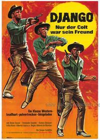 Django Shoots First - 27 x 40 Movie Poster - German Style A