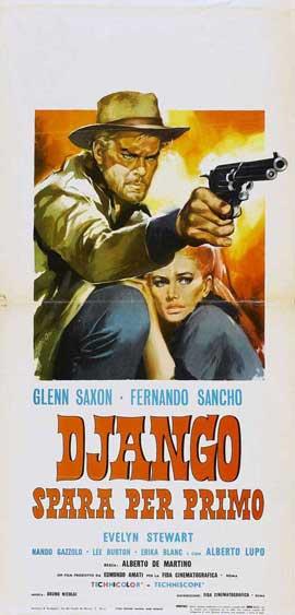 Django Shoots First - 13 x 28 Movie Poster - Italian Style A