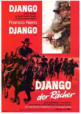 Django, The Avenger - 27 x 40 Movie Poster - German Style A