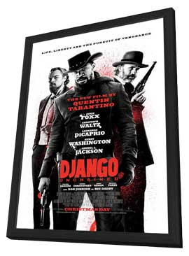 Django Unchained - 27 x 40 Movie Poster - Style H - in Deluxe Wood Frame