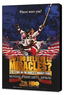 Do You Believe in Miracles? The Story of the 1980 U.S. Hockey Team - 11 x 17 Movie Poster - Style A - Museum Wrapped Canvas