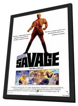 Doc Savage - 11 x 17 Movie Poster - Style A - in Deluxe Wood Frame