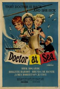 Doctor at Sea - 27 x 40 Movie Poster - Style A