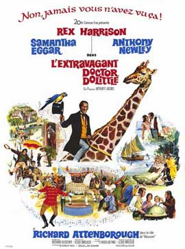 Doctor Dolittle - 11 x 17 Movie Poster - French Style A